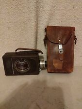 Vintage Brown Bell & Howell 16mm filmo Auto Load Movie Camera w/ case