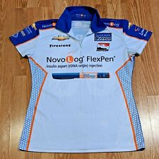 Charlie Kimball  Novo Log 83 Chevy IZOD Indy Car Series Womens Medium Polo Shirt