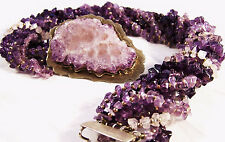 Amethyst Multiple Strand Statement Choker Necklace