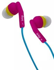 iHip IP-BLUEBOTTLE 4 Color Earphones Works With iPhone Pink