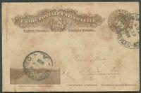 URUGUAY TO ARGENTINA Postal Stationery 1908 VF