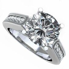 18kt G/H 2.00ct Round Cut Channel Set Diamond Engagement Ring Certified