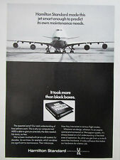 10/1972 PUB HAMILTON STANDARD AIDS COMPUTER DATA BOEING 747 MAINTENANCE AD