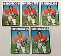 Lot of 5 ~ 1972 Topps Football #50 Floyd Little NM+