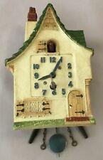 Lux Dutch Cottage with Bobbing Bird Wall Clock