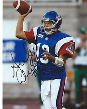 Anthony Calvillo Signed 8x10 Photo Montreal Alouettes Autographed COA