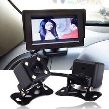 LED Universal Reverse Camera Backup Night Vision Camera Car Rear View Mirror HD