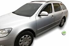 DSK28318 SKODA OCTAVIA mk2 II 1Z ESTATE 2004-10 WIND DEFLECTORS 4pc HEKO TINTED