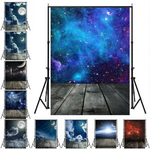 5x7ft Plank Background Space Backdrop Star Galaxy Studio Photography  Universe