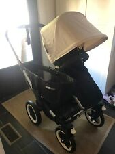 Bugaboo donkey stroller Black with cream canopy