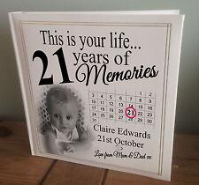 Personalised extra large photo album, 21st memory book, 21st birthday present.