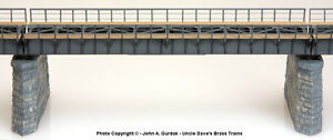BRASS PBA-1009-5 DECK GIRDER BRIDGE 74 FOOT w/WALKWAYS 1 TRACK F/P GRAY NEW