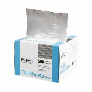 ForPro Embossed Foil Sheets 500S, Aluminum Foil, Pop-Up Dispenser, for Hair C...