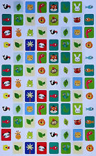 96 Cute Animal Wildlife Sticker Sheet (Panda Snake Bunny Duck Lion Stickers)