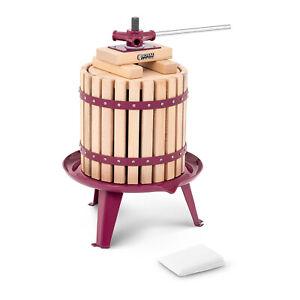 Pressoir À Baies Fruit Presse Jus Manuel Extracteur Mécanique Vin Pommes Bois12L