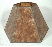 A VINTAGE MID CENTURY 6 PANEL MICA LAMP SHADE