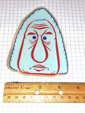 Barry Mcgee TWIST Large Face Silkscreened Sticker Original, Rare Red/Blue
