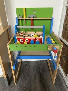 toy wooden tool bench
