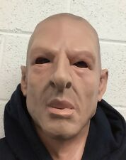 Realistic Man Mask Male Disguise Halloween Fancy Dress Full Head Latex Bald Head