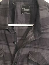 Nice - Seven Diamonds Tradition Of Quality 1963 Gray Long Sleeve Button Down (M)