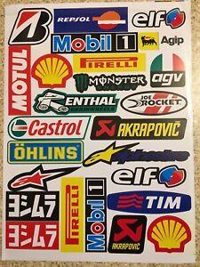 CASTROL 2 Pack Waterproof Moto Stickers Graphics Decals Sheets Mx Motorcross