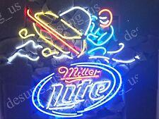 """New Miller Lite Snowmobile Beer Bar Beer Neon Sign 24""""x20"""""""