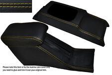 YELLOW STITCH CONSOLE & ARMREST SKIN COVERS FITS HONDA CIVIC EG6 EG9 EJ1 92-95