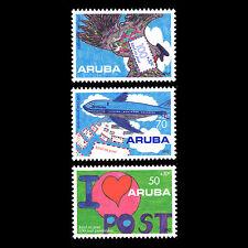 Aruba 1992 - 100th Anniv Postal Service Children's Drawings - Sc B29/31 MNH