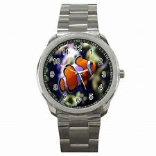 Clown Fish Aquarium Nemo Stainless Steel Watch