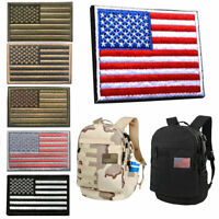 American flag USA patriotic gold border iron on embroidered patch appliques