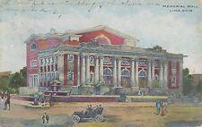 LIMA OH – Memorial Hall - 1908