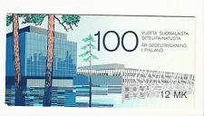 Finland: 1985; Scott 706 Booklet pane of 8 finnish banknote cent., mint NH. FL10