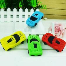 3 psc Eraser Stationery School Office Car Shape Pencil Rubber Party Gift N6