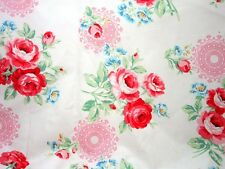 Red Roses White Flower Sugar 2014 Lecien Quilt Fabric by the 1/2 yd