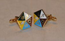 Masonic Allied Degree Gold Plated & Enamel Cufflinks (CF003)