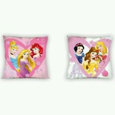 Cojin Princesas Disney 40x40 cm. Desenfundable  cremallera. Reversible. Relleno