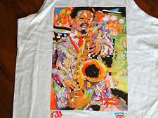 Vtg NOS New Orleans Saxophone Sax JAZZ Tank T-Shirt Mens L DEADSTOCK