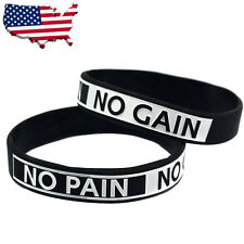 Wristband Bracelet Rubber Silicone Exercise Fitness Sport Crossfit Weightlift