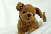 Ty Beanie Baby TUFFY 1996 Brown Dog w/ Tag ERRORS Plush Toy RARE NEW RETIRED