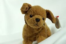 Ty Beanie Baby TUFFY 1996 Brown Dog w/ Tag ERRORS Plush Toy RARE NEW RETIRED