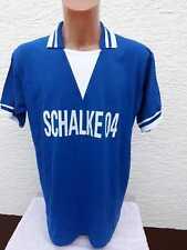 FC Schalke 04 Retro- Trikot- T-Shirt M L Vintage- Jersey blau 70er 70s Triko