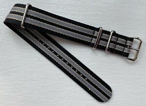 James Bond Herringbone Seatbelt Profesional Nato Watch Strap - Size 22mm - New