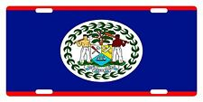 Belize Flag Custom License Plate Sub Umbra Floreo Emblem Original Version