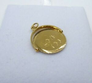 9ct Gold Charm I Love You Spinner Dangle Traditional Gift Box