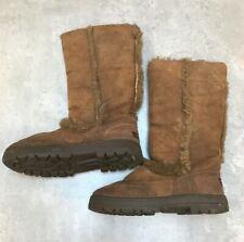 Uggs Sundance Sheepskin Chestnut Boots W9 Size UK 7