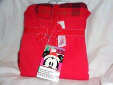 NWT WOMENS SIZE LARGE MINNIE MOUSE RED LONG SLEEVE  PAJAMA PJ SET~ DISNEY STORE