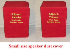 Speaker dust cover, in Red polar fleece. soft and washable (Small speaker)