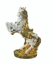 Italian Horse Ornament Black And Gold Romany Ceramic 44cm 17inches