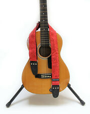 "GUITAR STRAP KID SIZE  RED SPARKLE  2"" by: Capturing Couture KID20-SPRD"