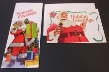 2 Vintage Coca Cola Christmas Cards from Bakersfield Bottling Co #2